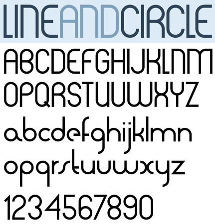 verb: Poster thin circle black font and numbers.