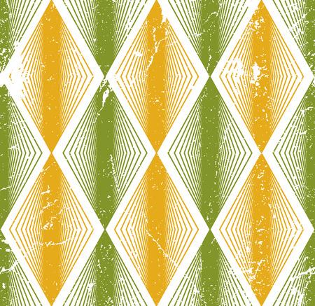 crannied: Rhombus seamless pattern, abstract geometric tiling background, vector illustration. Illustration