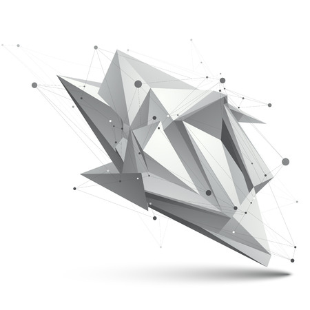 apex: Modern digital technology style, abstract unusual background, vector spatial tech complicated 3d figure.
