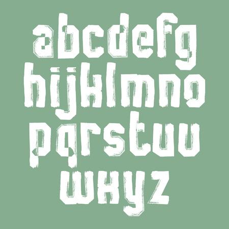 verb: Aislado Manuscrito vector letras min�sculas, pintado con estilo tipograf�a.
