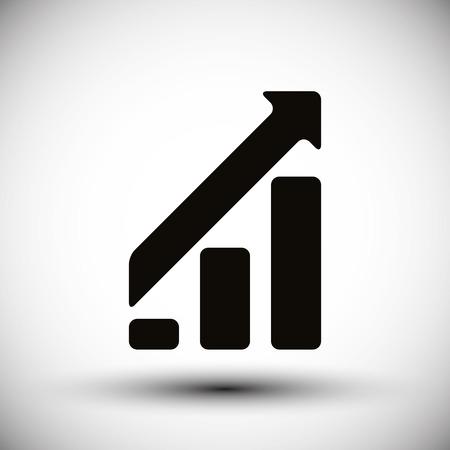 earnings growing up conceptual symbol  Иллюстрация