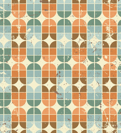crannied: Vintage bright geometric seamless pattern, elliptic abstract background.