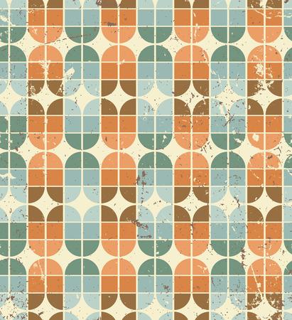 elliptic: Vintage bright geometric seamless pattern, elliptic abstract background.