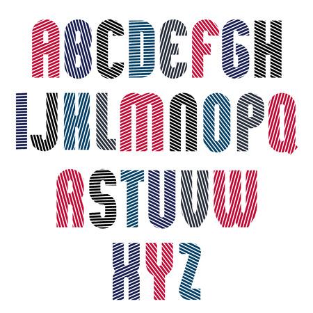 retro font: Decorative carattere retr� strisce, geometrico carattere luminoso con linee diagonali parallele.