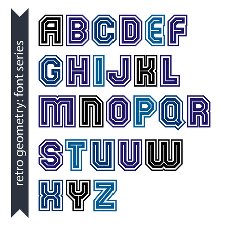 verb: Regular stylish font with straight lines only. Triple sans serif typescript for use in posters and web design.