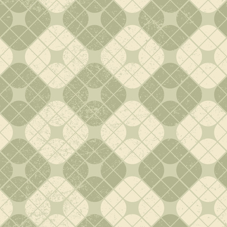 carpet and flooring: Light vintage squared seamless pattern, vector geometric abstract backdrop.  Illustration