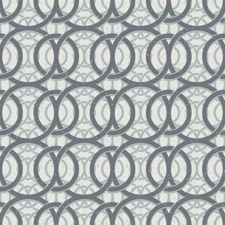 secession: Vintage decor seamless pattern, geometric vector background.