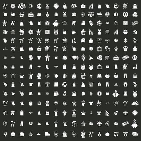 money bag: 240  shopping icons set