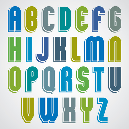 fabled: Bright animated uppercase letters with rounded corners.