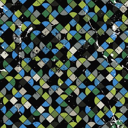 contraste: Vector geom�trico patr�n abstracto colorido, lona contraste desgastado.