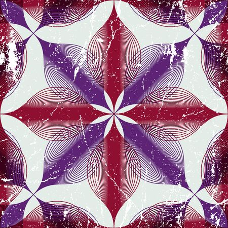 espejismo: Fondo floral vintage transparente con textura de edad, geom�trico, seamless, patr�n rayado, ilustraci�n vectorial.