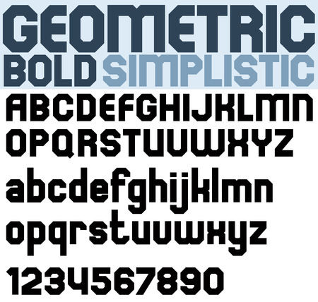 extensive: Poster black bold geometric font and numbers.