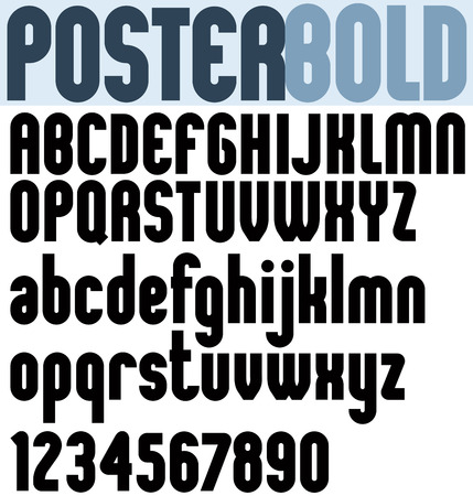 extensive: Poster black bold extensive font and numbers.