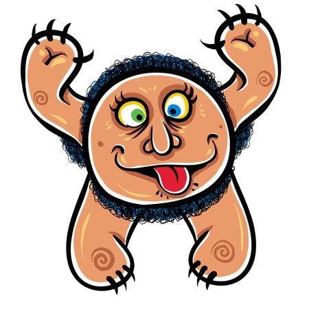 foolish: Foolish cartoon monster, vector illustration.