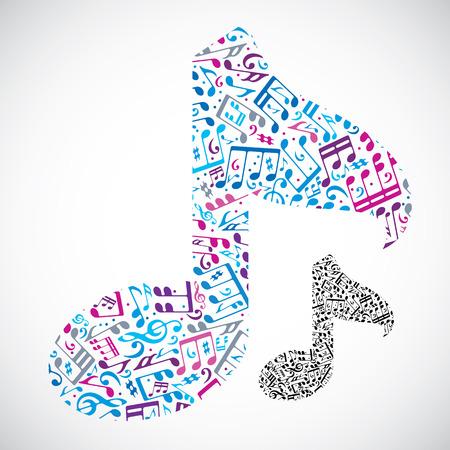 clave de sol: Vector brillante luz nota musical aislada en el fondo blanco, símbolo musical decorativo.