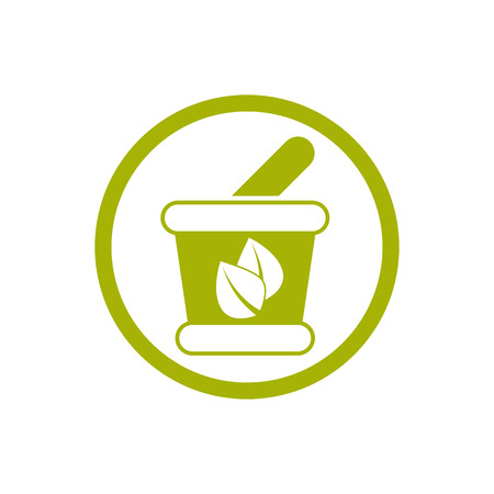 Mortar and Pestle vector icon isolated. Vector