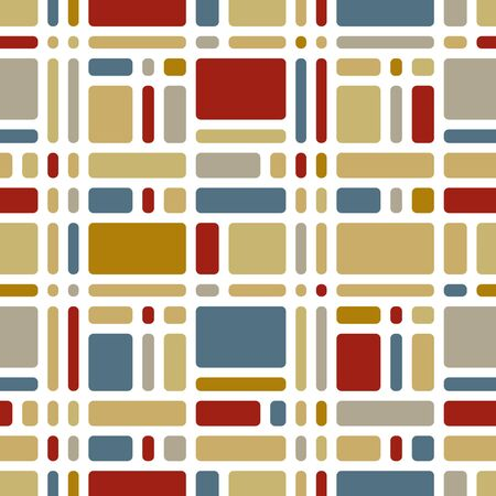 medley: Colorful mosaic tiles seamless pattern, vector background.