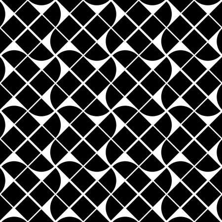 undulate: Black and white geometric abstract seamless pattern, vector contrast background. Illustration