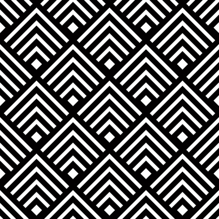 Seamless geometric vector background, simple black and white stripes vector pattern, accurate, editable and useful background for design or wallpaper.