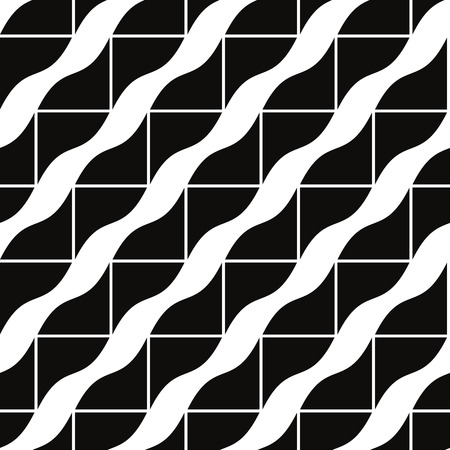 Geometric tiles seamless pattern, vector background.
