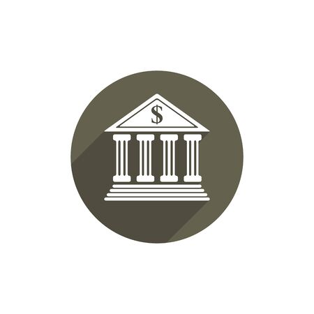 bank building: Bank vector icon isolated. Illustration