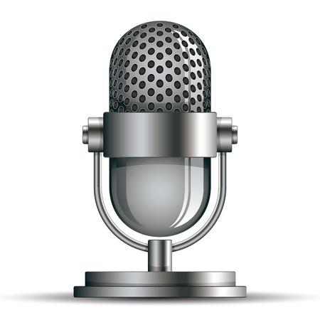radio microphone: Microphone icon, vector illustration.