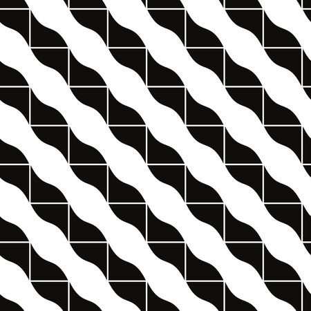 Geometric mosaic seamless pattern, vector background. Vector