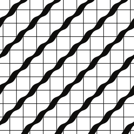 Retro tegels naadloze patroon, vector achtergrond. Stock Illustratie