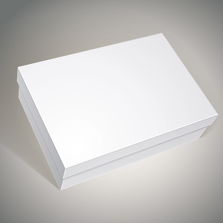 package white box design template for your package design put