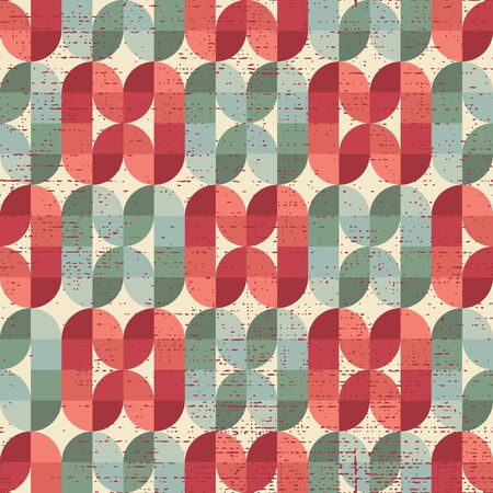 crannied: Colorful worn textile geometric seamless pattern, decorative abstract infinite retro background. Illustration