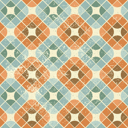 carpet and flooring: Vintage decorative seamless pattern, geometric abstract background.