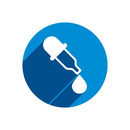 eye pipette: Dropper vector icon, medical pipette, eyedropper. Illustration