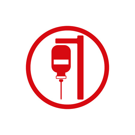 donor blood type: Blood transfusion vector icon isolated.