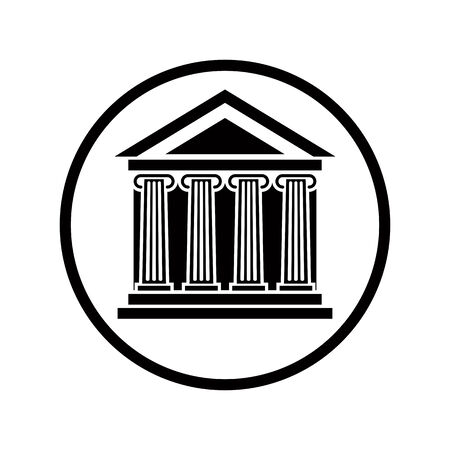 pictogramme: Bank vector icon. Illustration