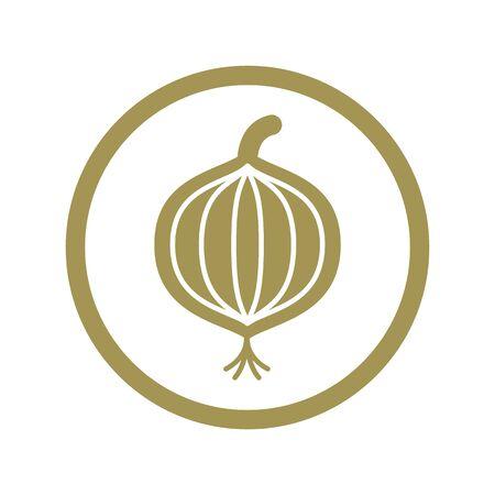 onion: Icono de vector Cebolla.