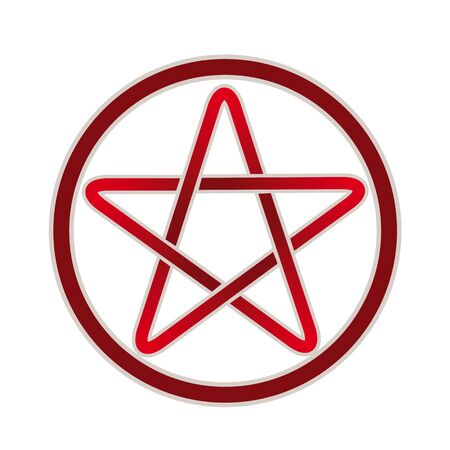 indicate: Five point pentagram vector icon.