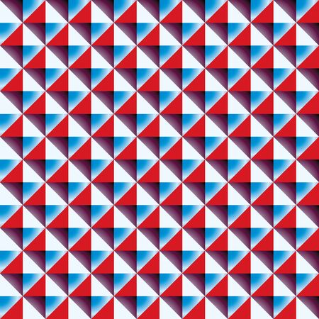 Optical simplistic square tiles seamless pattern, vector background. Vector