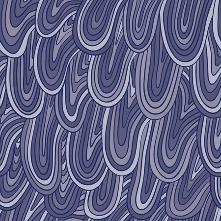repeated: Funky style monochrome seamless pattern, vector background.