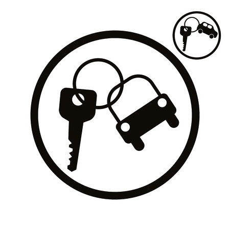 picto: Car key vector simplistic icon.