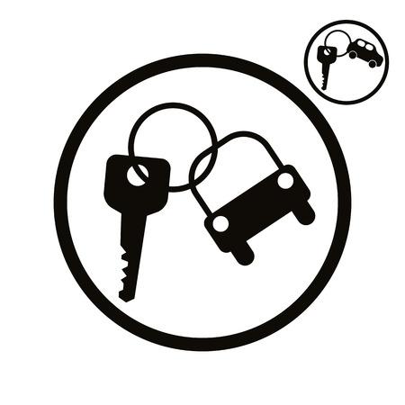 Car key vector simplistic icon.