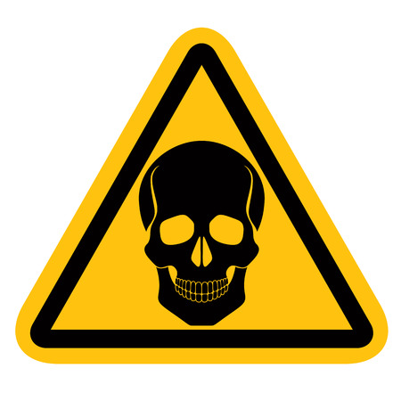pictogramme: Warning sign with skull, vector. Illustration