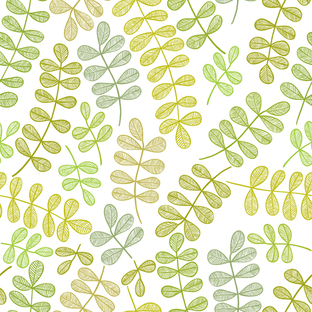 Simplistic floral pattern, vector seamless background. Vector