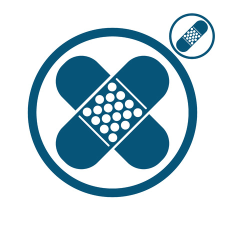 elastic: Bandage plaster vector icon. Illustration