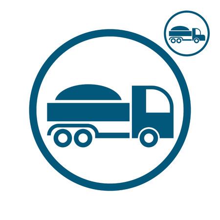 simplistic icon: Truck vector simplistic icon.