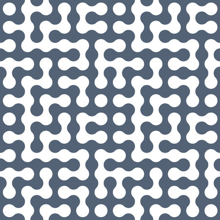 simplistic: Connected dots geometric seamless pattern, single color vector background.