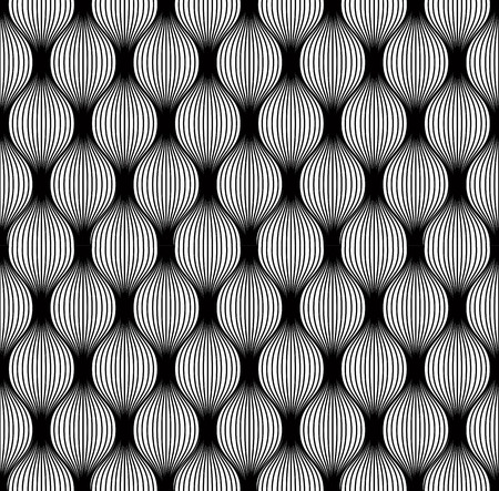 Black and white vintage style seamless pattern, vector background.