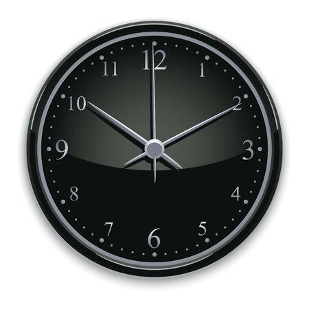 pictogramme: Black watch vector illustration.
