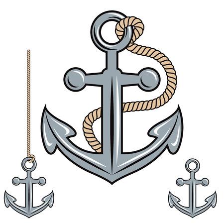 Anchor vector icon set. Illustration
