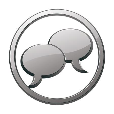 pictogramme: Speech bubbles icon, vector.