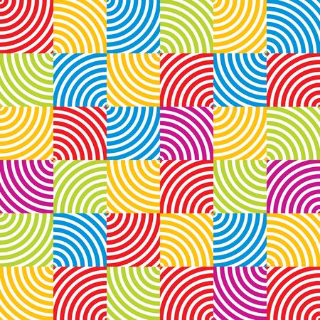 simplistic: Optical geometric simplistic seamless pattern, vector background. Illustration